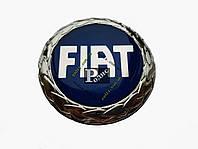 Эмблема Fiat синяя на двухстороннем скотче (d-75мм, s-5мм)