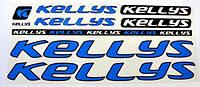 Наклейка Kellys на раму велосипеда, синий (NAK031)