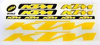 Наклейка KTM на раму велосипеда, желтый (NAK045)