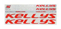 Наклейка Kellys на раму велосипеда, красный/серый (NAK050)