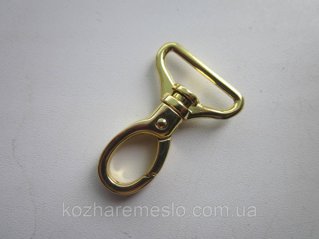 Карабин 20 мм золото