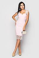 Вечірнє літнє жіноче плаття Jaklin розовий розмір 42,44,46