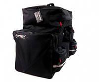 Велосумка на багажник Spencer Triple Bag 3-ох секційна 42л, чорний (SAKB18)