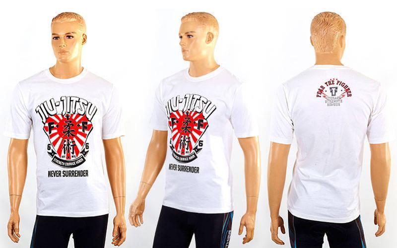 Футболка спортивна Jiu-jitsu розмір L (50-52) біла