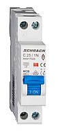 Автоматический выключатель со встроенной нейтралью 4.5кА 1P+N 25А х-ка C Schrack