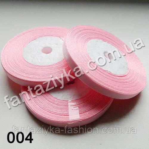 Лента атласная тонкая 0,6 см, светло-розовая 004