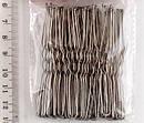 Шпильки для волос с силиконовыми шариками L 7 см серебристые 50 шт/уп., фото 2