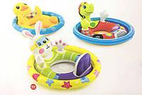 Надувные круги - ходунки для плавания Наездник от 3 до 4 лет (черепаха, зайчик, уточка)