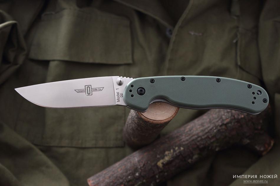 Складной нож Ontario RAT-1 D2 Olive Drab