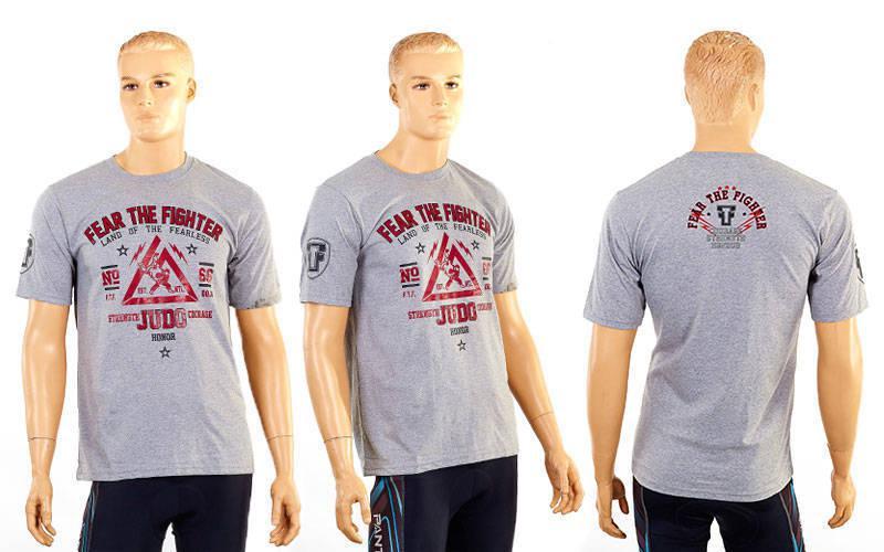 Футболка спортивна Judo розмір M (46-48) сіра