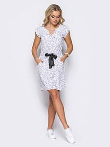 Молодежное женское платье 50 размера