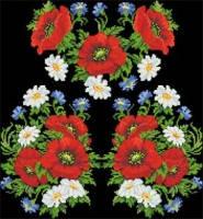 Заготовка для вышивки бисером или крестиком блузки-украинская вышиванка