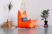 Оранжевое бескаркасное кресло трон из Оксфорда, фото 1