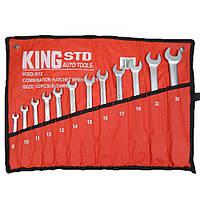 Набор ключей комбинированных с трещоткой 12 предметов, 8-24 мм. (KSD-012) KingRoy 6700