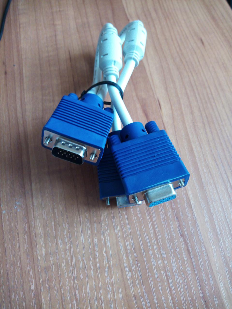 Розгалужувач Кабелю адаптер VGA 1 роз'єми для подвійного 2 VGA