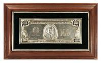 Картина клише 100 долларов в серебре - большое панно, фото 1
