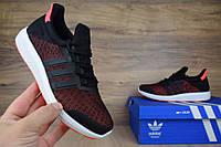 Женские кроссовки Adidas Climacool Bounce черные с бордовым Топ Реплика