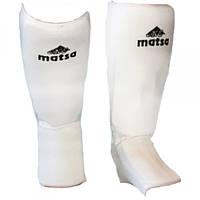 Защита для ног(голень+стопа)х-б+эластан ZEL MA-0007 XL Белый