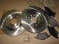 Комплект тормозной передний AUDI A3, SEAT TOLEDO, SKODA OCTAVIA, Volkswagen CADDY (производство REMSA) (арт. 81030.04), AGHZX