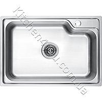 Прямоугольная кухонная мойка Fabiano 68х45-S нержавеющая сталь полированая, матовая