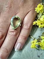 Кольцо из цитрина - камня мудрости и спокойствия - в форме капли