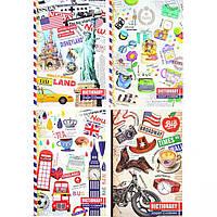 Тетрадь для иностранных слов (словарь) В6 Мандарин 120л. английский язык (дизайн 17194-17197) ТР77/1