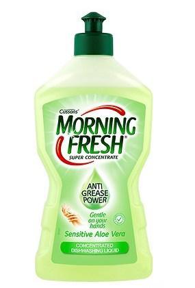 Жидкость для мытья посуды Morning Fresh Sensitive Aloe Vera 450ml.