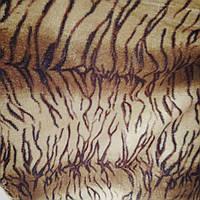 Меблева тканина велюр ширина тканини 160 см сублімація тигр, фото 1