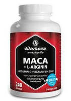 Тестостероновый бустер Vitamaze Maca+L-Arginin+VITAMIN C + VITAMIN B + ZINK, 240 caps