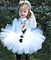Платье для девочки.Новогодний костюм.Новогоднее платье. Белый