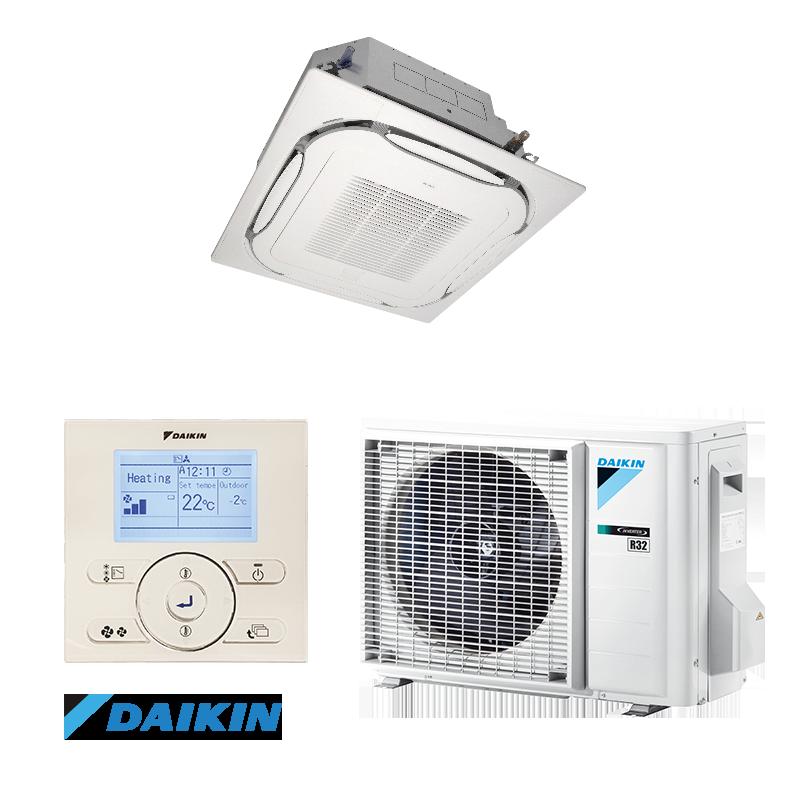 Кассетный инверторный кондиционер Daikin  FCAHG100/RZQG100 Seasonal Smart (высокоэффективный)
