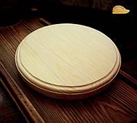 Деревянная заготовка - сырная доска, круглая доска, для декупажа