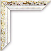 Рамка для зеркала белая ширина 3 см, фото 1