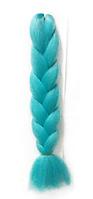Канекалон однотонный голубой, 60 см