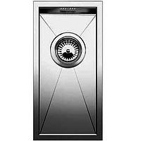 Кухонная мойка Fabiano Quadro 22 S/Steel 225х440 мм. полированная нержавеющая сталь