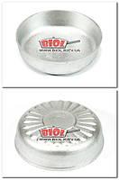 Тарелка (миска, форма, пиала) алюминиевая порционная 11х3см Пролис