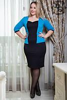 Платье батал облегающее (в расцветках) 384.1, фото 1