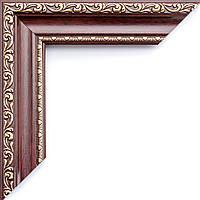Рамка для зеркала красное дерево ширина 3,4 см, фото 1