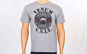Футболка спортивная Venum UNIT размер M (46-48) серая