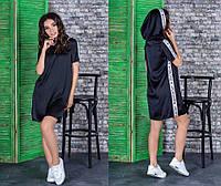 Женское платье-туника с капюшономиз атласа Givenchy