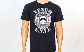 Футболка спортивная Venum UNIT размер M (46-48) черная