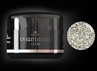 Глиттерный гель UV GLITTER GELS Clear