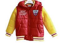Детская куртка - евро зима, красно-желтая