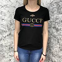 Футболка женская Gucci Bee 18801 черная, фото 1