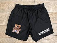 Шорты мужские Moschino D3467 черные плавательные