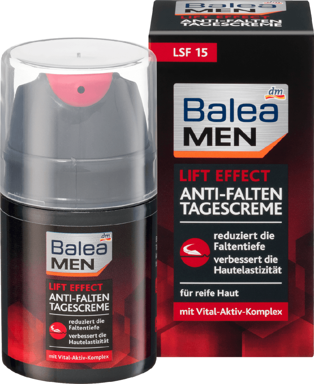 Дневной крем для лица Balea men Lift Effect Anti-Falten, 50 мл., фото 1