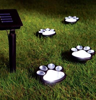 Декоративный садовый светильник на солнечной батарее Wolta Kotte 4 шт./уп. IP44 чорний