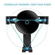 Держатель + беспроводное зарядное устройство в авто для Galaxy и Iphone, фото 2