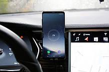 Держатель + беспроводное зарядное устройство в авто для Galaxy и Iphone, фото 3