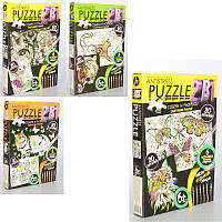 Набор для творчества Puzzle 2119: пазлы + раскраски (6 стержней)